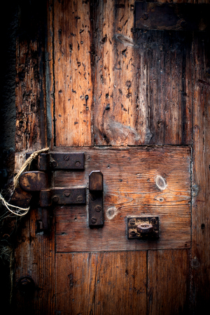 old wooden door: Old wooden door. Grunge wood texture Stock Photo