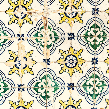 lisbon: Traditional tiles azulejos wall -  Lisbon Portugal