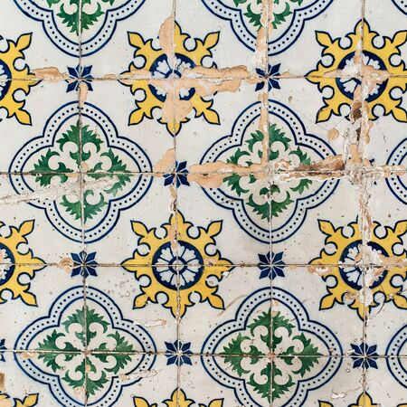 azulejos: Traditional tiles azulejos wall -  Lisbon Portugal