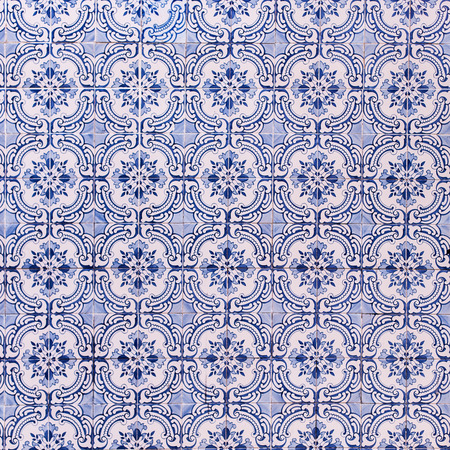 azulejos: Art ceramic pattern background with colorful texture - Traditional tiles azulejos Lisbon, Portugal