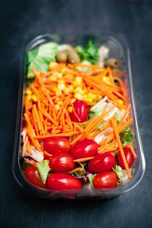 vegetable salad: Fresh vegetable salad -  healthy food