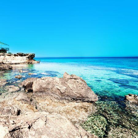gentle dream vacation: Sea beach blue sky sand Stock Photo