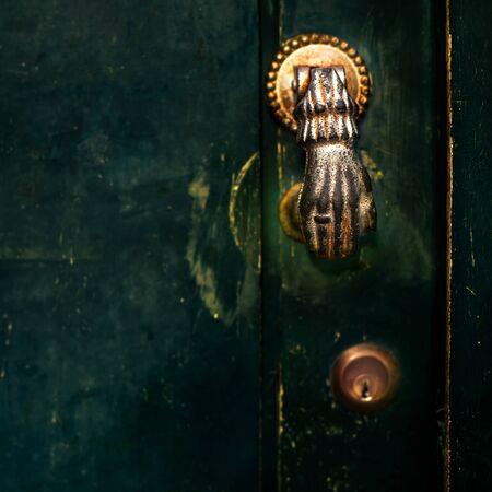 scratchy: Vintage Door Handle with Dark Dusty Scratchy Texture