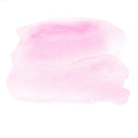 ピンクのインク スポット、水彩染色水彩ペイント ストローク。 写真素材