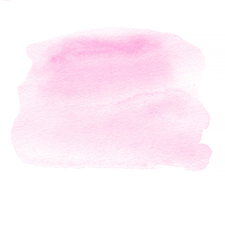 Pink ink spot,  watercolor stain with watercolour paint stroke.