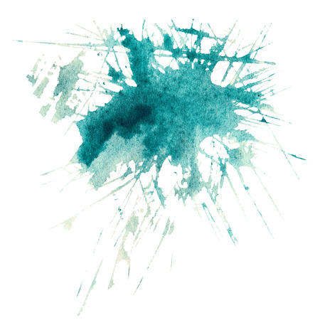 ink spot: Watercolour abstract hand painted textured wet ink spot for background. Stock Photo