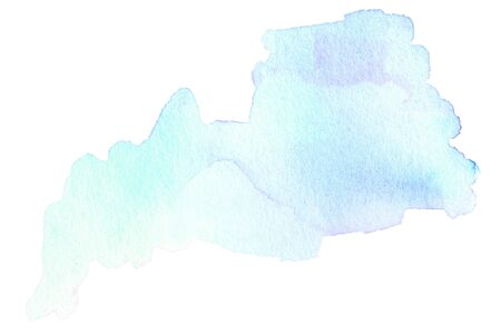 watercolour: Bright watercolor stain with watercolour paint stroke. Stock Photo