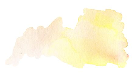 ink spot: Yellow Watercolour Hand Painted ink spot textured background. Stock Photo