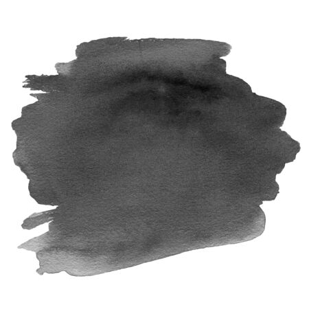 ink spot: Abstract Hand Painted Grayscale Watercolor ink spot.