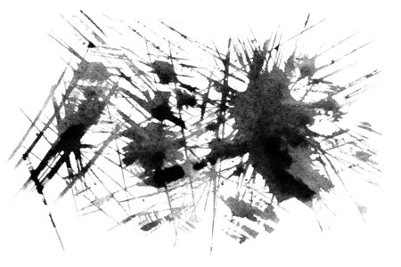 ink spot: Set of watercolor blobs - Abstract black watercolor texture. Hand painted ink spot.