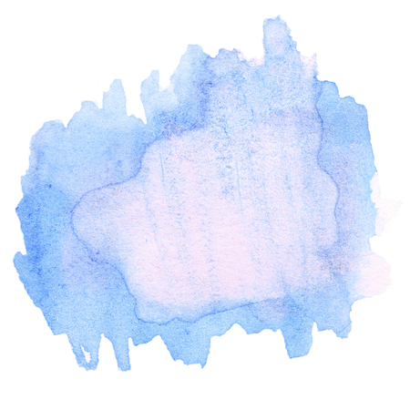 Abstract watercolor hand drawn template with rough edges. Stock Photo