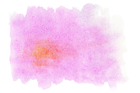 edges: Abstract watercolor hand drawn template with rough edges. Stock Photo