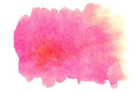 edges: Bright Watercolor spot - Abstract hand drawn template with rough edges. Stock Photo