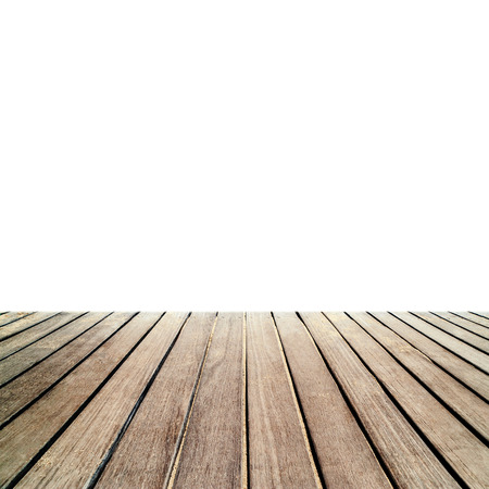 decking: Wood floor texture - Old exterior wooden decking or flooring isolated on white background.