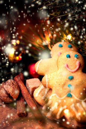 gingerbread cookie: Christmas homemade gingerbread man cookie