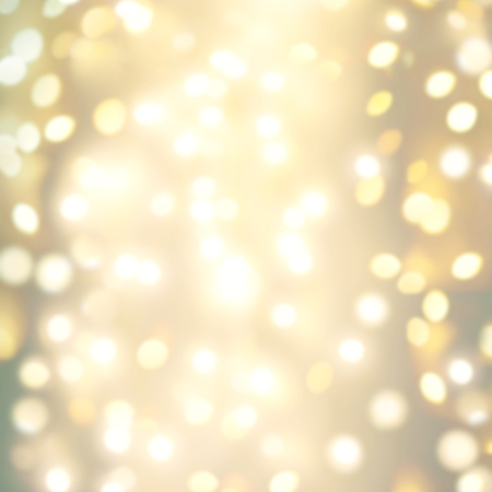 Christmas Defocused Bokeh Vintage background with  twinkling golden lights