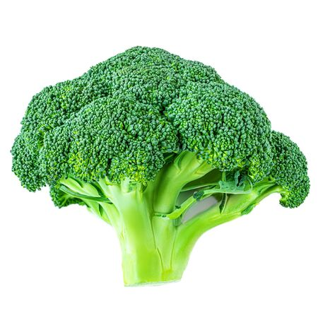 Broccoli isolated on white background. Fresh green broccoli vegetable close up Banco de Imagens - 124565230