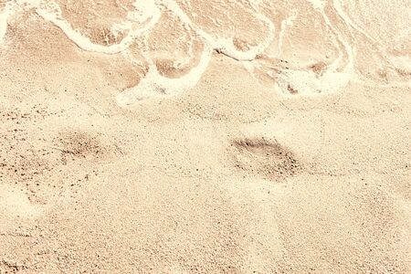 Sand Background. Soft wave on sandy beach. Summer  Vacation concept  Banco de Imagens