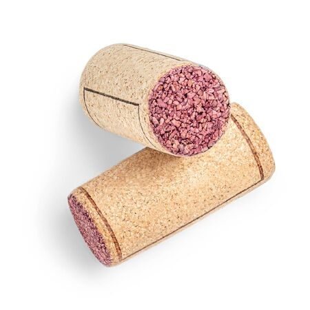 Wine corks Isolated on white background. Close up.  Red wine concept Reklamní fotografie