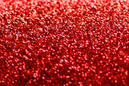 Abstract Christmas Background. Red glitter for greeting and wedding invitation card