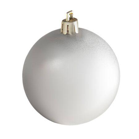 Christmas ball isolated on white background. Close up. Traditional Xmas symbol.