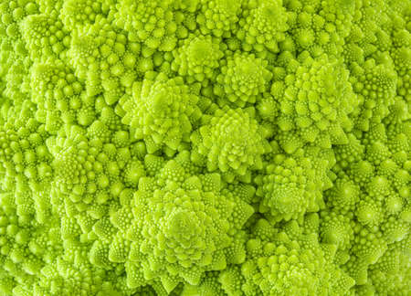 Romanesco broccoli or Roman cauliflower textured background. Healthy Vegan Food concept. Wallpaper Imagens