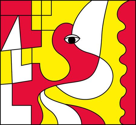 Abstract art, vector illustration Illustration