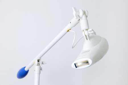 Equipment for patients teeth and apparatus in dental ambulance. Tool for teeth whitening in clinic.