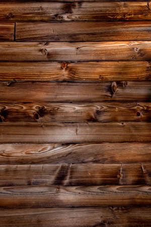 Wooden Background by Brown Boards with Light and Shadow, Close Up Banco de Imagens