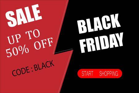 Black friday sale banner layout design Stockfoto - 133945326