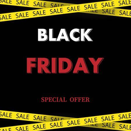Banner with text Black Friday, special discount.