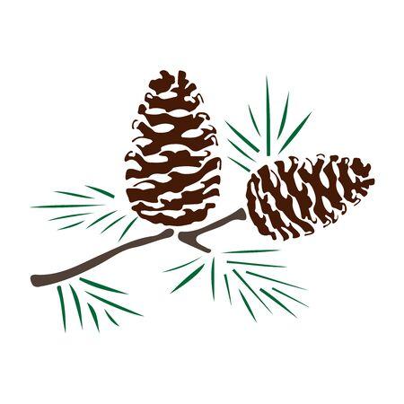 color de silueta de conos de pino