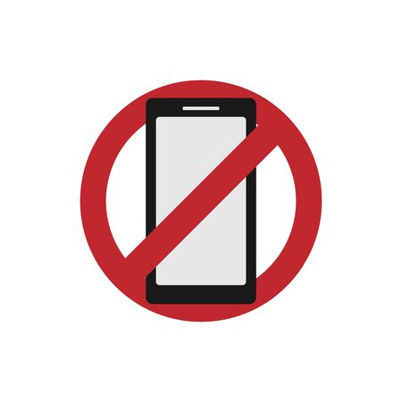 Vector illustration of a banner or sticker without a mobile phone. The concept of digital detoxification.