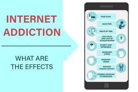 Internet addiction and digital detoxification: symptoms and consequences of excessive smartphone use Vectores