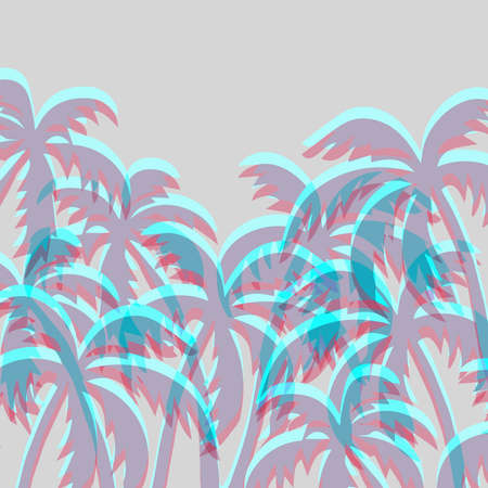 Abstract tropical background with palm tree-vector illustration