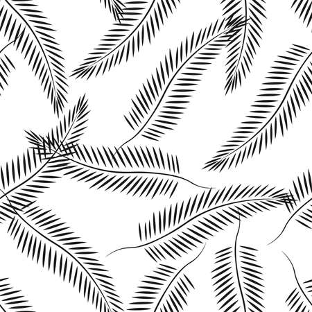 Summer tropical palm leaves seamless patterns. Vector grunge design for maps, networks, backgrounds, and natural products.