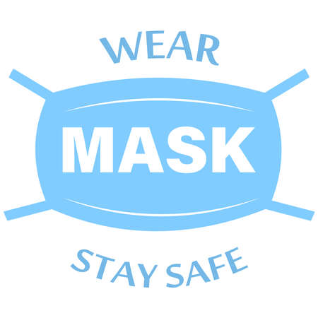 Wear a mask icon instructions for face masks. For doctors, nurses and people. COVID-19 flash. A product for health and personal hygiene. Vector illustration