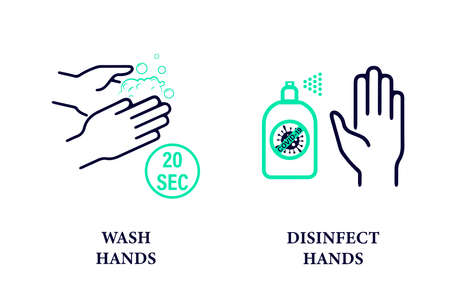 Hand hygiene. Coronavirus covid-19 is a preventative hand sanitizer that protects hands from viruses. Wash your hands and use an antiseptic.