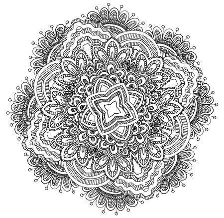 Round ornamental mandala.