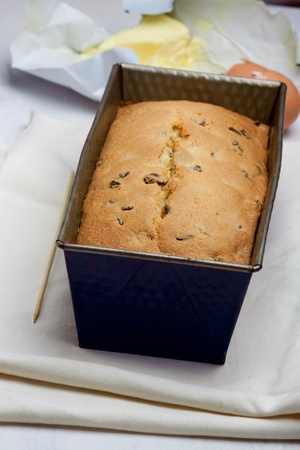 pound cake: Fresh baked pound cake