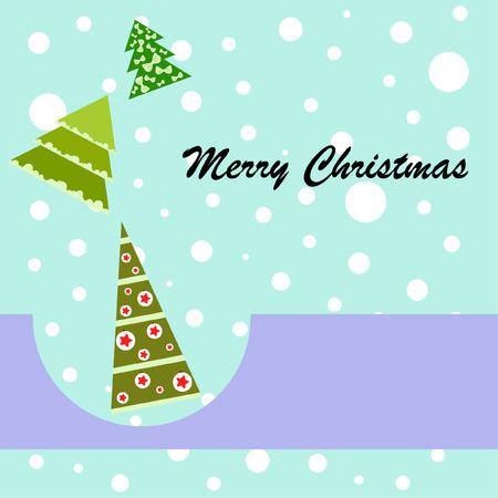 Christmas card, fir tree, vector background Ilustrace
