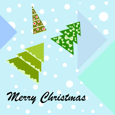 Christmas card, fir tree, vector background  イラスト・ベクター素材