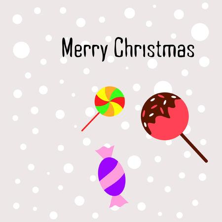 Christmas card, Christmas candy, vector background