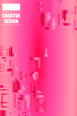Bright abstract gradient vector business background, business brochure cover design
