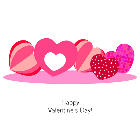 Valentine's Day, heart, greeting card, vector background