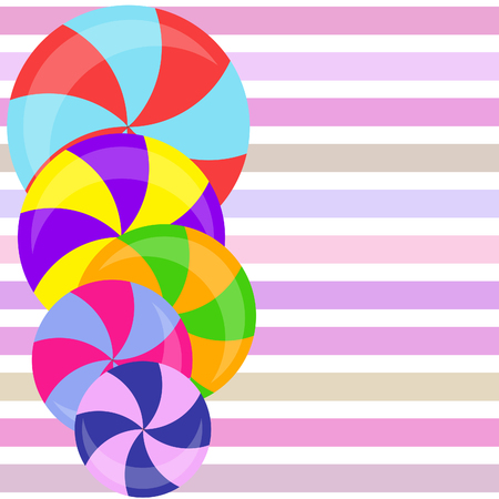 candy, sweet, hard candy, lollipop, abstract, vector illustration. Banque d'images - 119049401