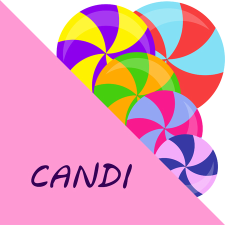 candy, sweet, hard candy, lollipop, abstract, vector illustration.