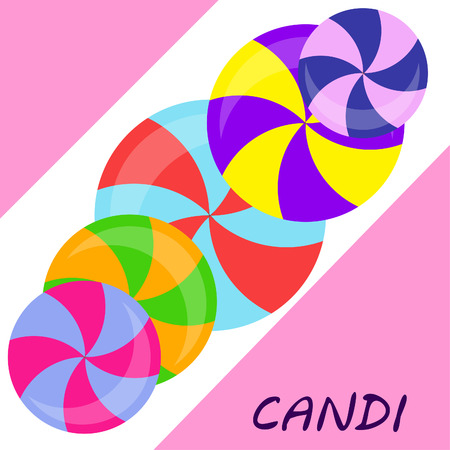 candy, sweet, hard candy, lollipop, abstract, vector illustration. Çizim