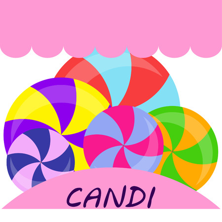 candy, sweet, hard candy, lollipop, abstract, vector illustration. Ilustração