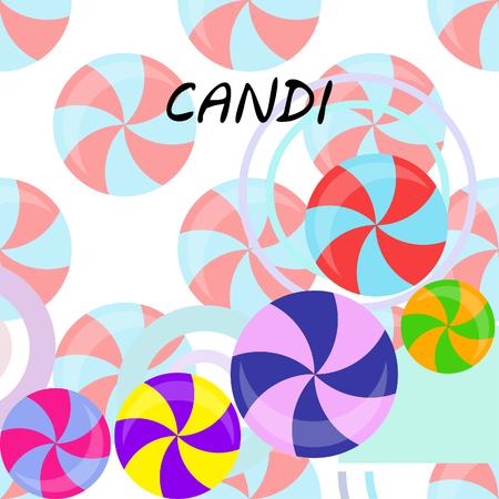 candy, sweet, hard candy, lollipop, abstract, vector illustration. Ilustração